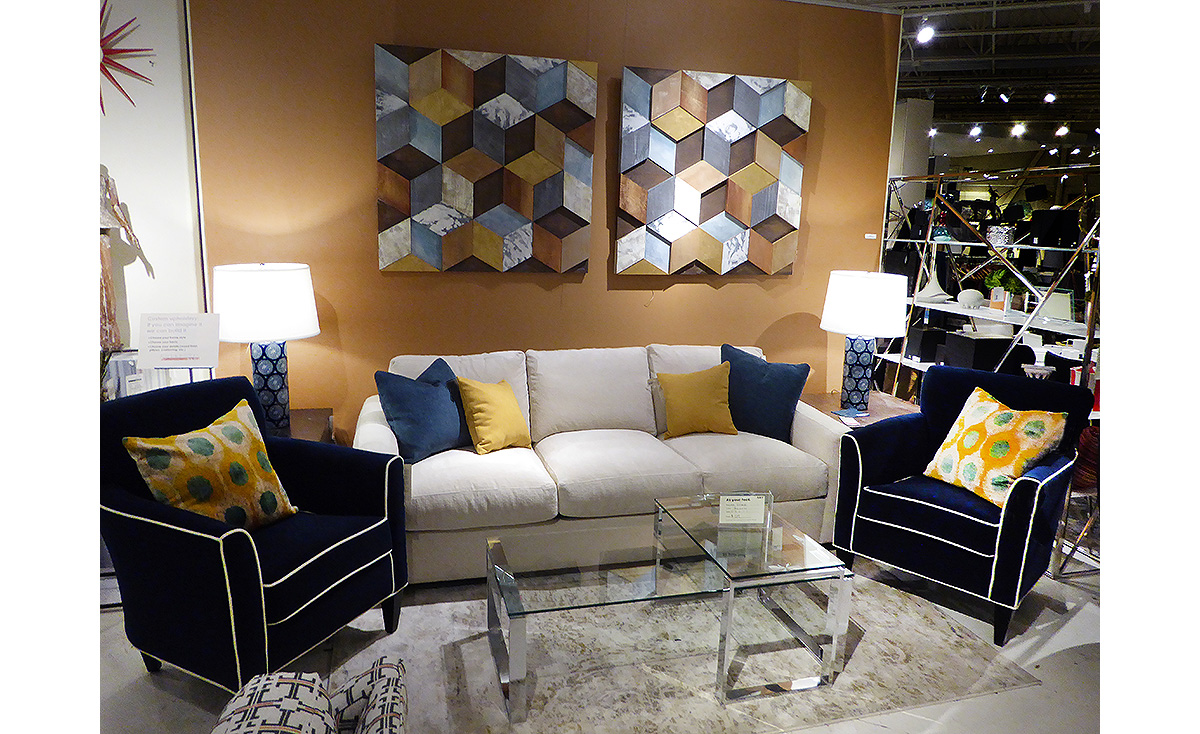 Contemporary Living Room Vignette from our Collectic Home Showroom - 2785 Bee Cave Rd #325 Rollingwood, TX