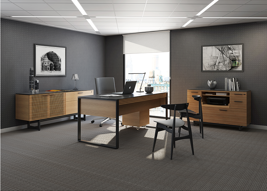 The Corridor Contemporary Office Collection by BDI in Natural White Oak