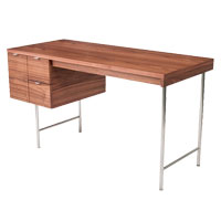 Conrad Walnut Contemporary Desk
