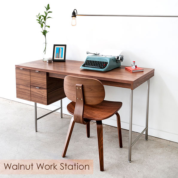 Walnut Contemporary Work Station by Gus* Modern