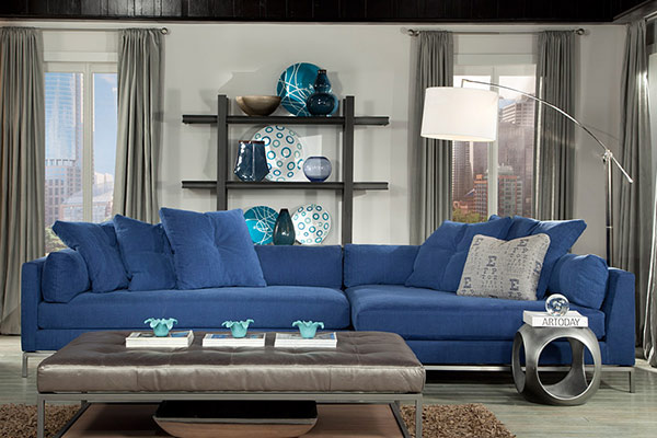 Jonathan Louis Cordoba Blue Sectional