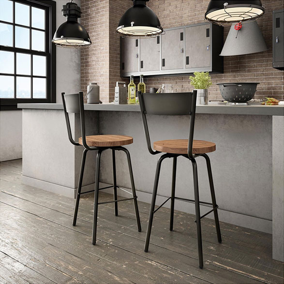 Crystal Contemporary Bar + Counter Stool