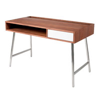 Junction Walnut Contemporary Desk