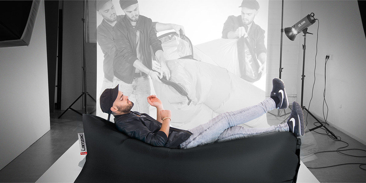 The Lamzac Inflatable Lounge is now in stock at the CollecticHome Austin store.