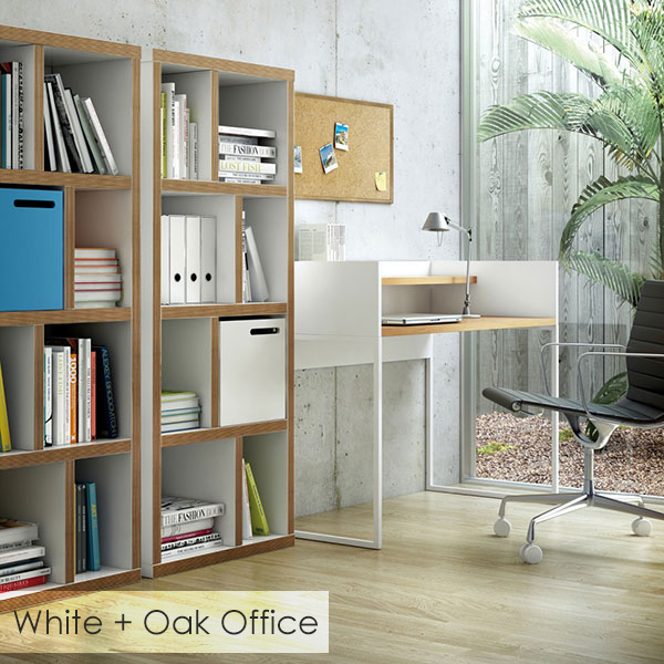 White + Oak Contemporary Office