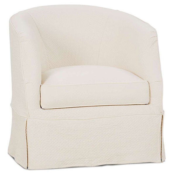 Ava Swivel Chair Slipcover By Rowe Furniture ...