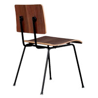 School Walnut Contemporary Chair