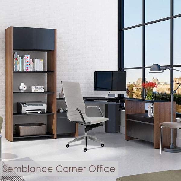 Semblance Contemporary Corner Office