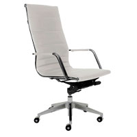 Sofia High Back White Contemporary Office Chair