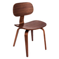 Thompson Walnut Contemporary Chair