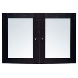 100 Collection Glass Hutch Doors in Espresso