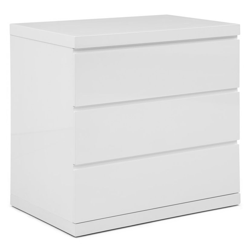 Anna Modern White 3 Drawer Chest