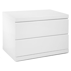 Anna Modern White Large Nightstand