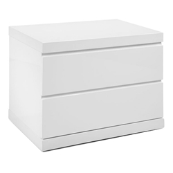 Anna Modern White Small Nightstand