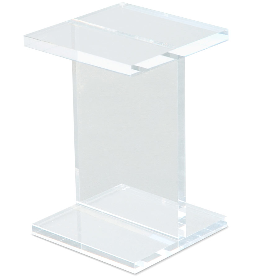 Acrylic I-Beam Contemporary End Table by Gus Modern