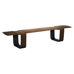 Modloft Black Addington Modern Bench in Walnut