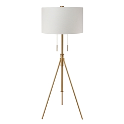 Addy Brass Contemporary Floor Lamp