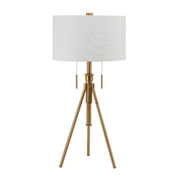 Addy Brass Contemporary Table Lamp