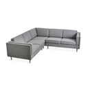 Adelaide Bi-Sectional Contemporary Sofa in Varsity Charcoal by Gus* Modern