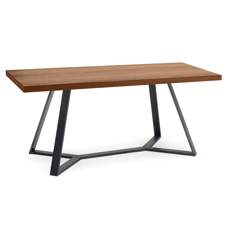 Adena Modern Walnut Dining Table by Domitalia