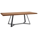 Adena Long Walnut Modern Table by Domitalia