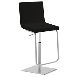 Afro-Sg Adjustable Bar Stool in Black by Domitalia