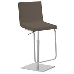 Afro-Sg Adjustable Bar Stool in Taupe by Domitalia