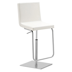 Afro-Sg Adjustable Bar Stool in White by Domitalia