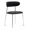 Ahab Chrome + Black Modern Side Chair