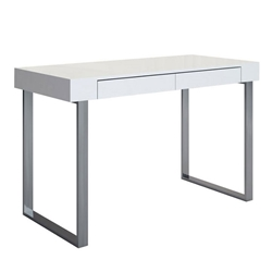 Alec Contemporary White Desk