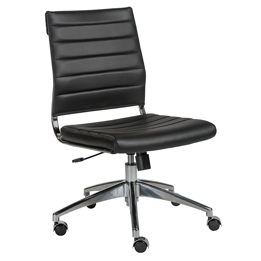 Axel Armless Modern Low Back Black Office Chair