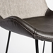 Euro Style Alisa Light Gray Fabric / Leatherette Modern Stool Detail