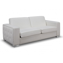 Allison Contemporary White Sleeper Sofa