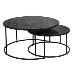 Alrik Modern Black Nesting Table Set by Euro Style