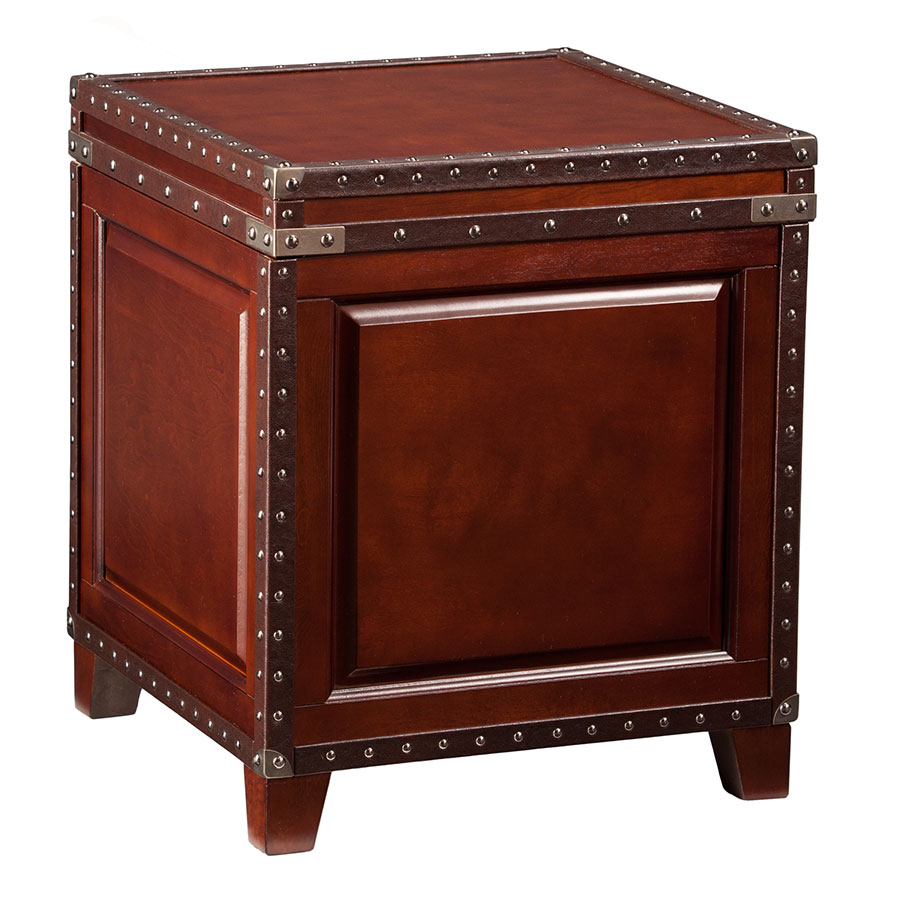 Ambrose Trunk Contemporary End Table