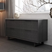 Modloft Amsterdam Gray Concrete + Gray Italian Oak + Black Steel Modern File Credenza - Room Shot
