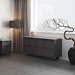 Modloft Amsterdam Gray Concrete + Gray Italian Oak + Black Steel Modern File Credenza - Lifestyle