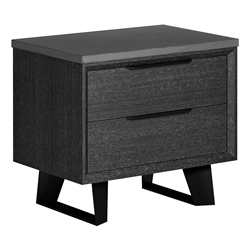 Modloft Amsterdam Gray Concrete + Italian Gray Oak + Black Steel Modern Nightstand