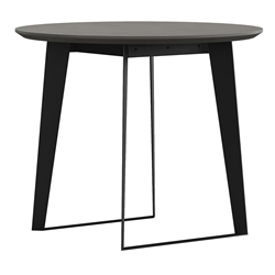 Modloft Amsterdam Gray Concrete + Black Steel Modern Cafe Dining Table Outdoor