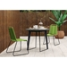 Modloft Amsterdam Outdoor Gray Concrete + Balck Steel Modern Cafe Dining Table - Lifestyle Photo