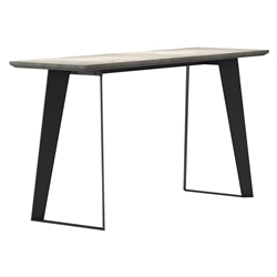 Modloft Amsterdam Outdoor Modern Gray Concrete Console Table with Black Steel Base