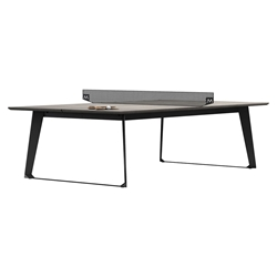 Amsterdam Modern Ping Pong Table in Gray Concrete with Black Steel Base by Modloft Black