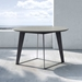 Modloft Amsterdam Round Outdoor Modern Dining Table in Gray Concrete with Black Steel Base - Lifestyle