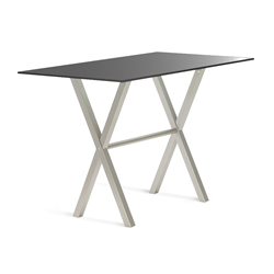 Andre Black Glass + Metal Modern Counter Height Table by Amisco