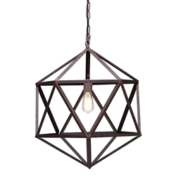Amethyst Small Contemporary Hanging Lamp