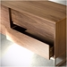 Annex Media Stand With Beveled Drawers by Gus Modern