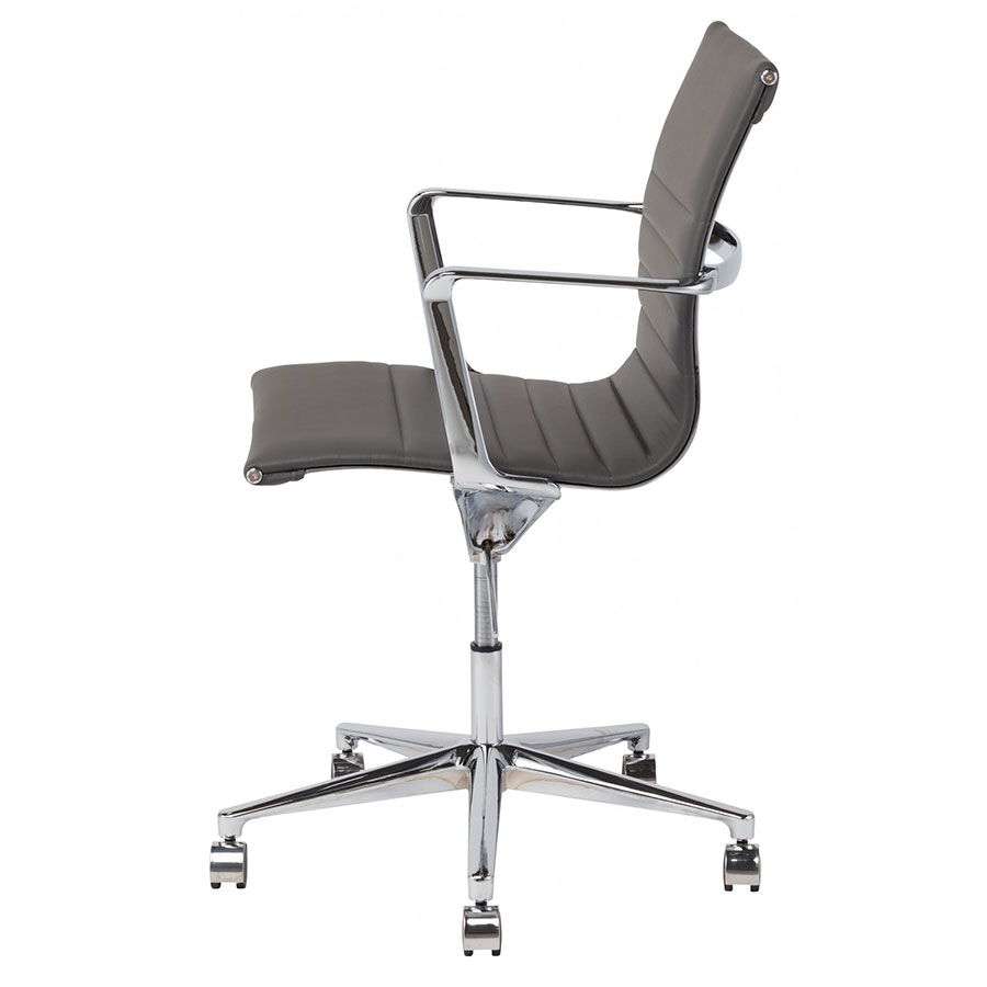 office chair side. Exellent Office Antonio Gray Naugahyde Modern Office Chair  Side View In E