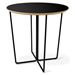 Gus* Modern Array Round Black End Table