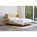 Gus* Modern Asheville Platform Bed in Granby Flax Fabric - Room Setting