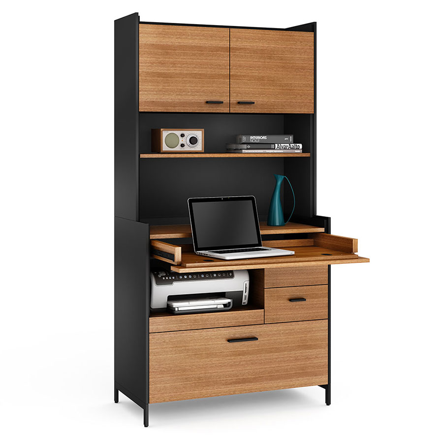 compact office. Aspect Black Contemporary Compact Office F